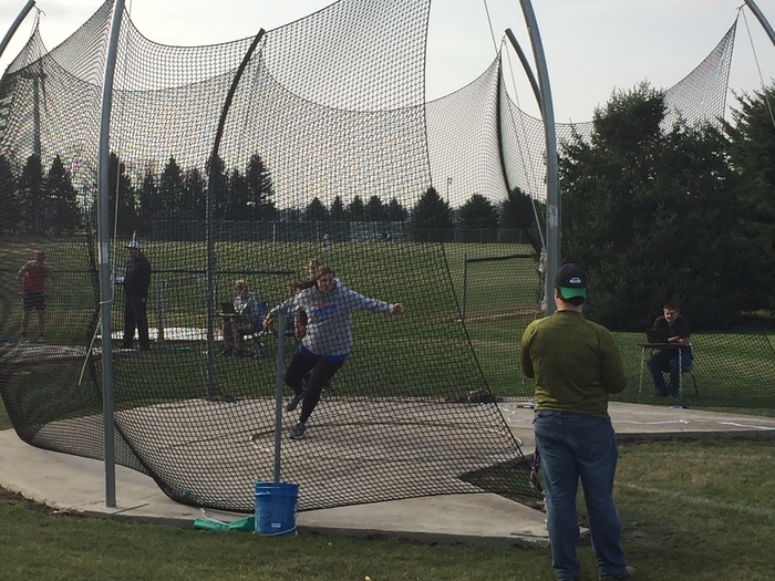 Kourtney Throwing Discus
