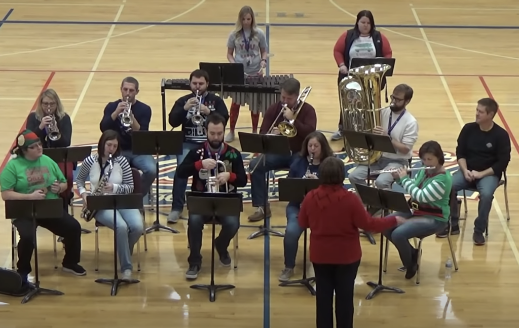 Staff Christmas Band