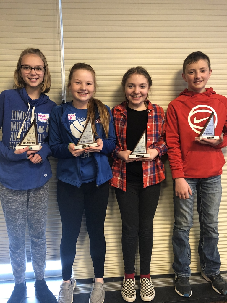 3rd place trophies: Mazzi Moore, Sylvia Fick, Abigayl Olson, and Blake Leenderts